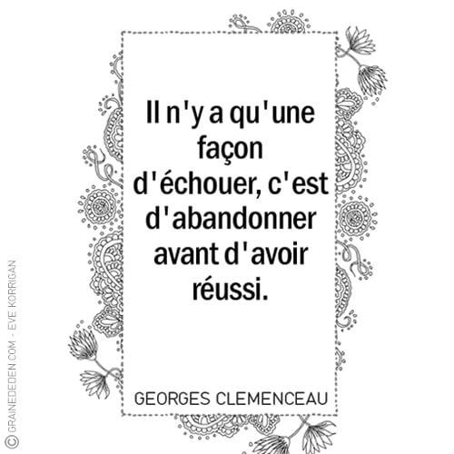 Citation Clemenceau Graine D Eden