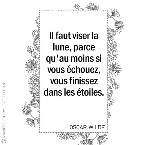 Graine d'Eden - Citation OSCAR WILDE