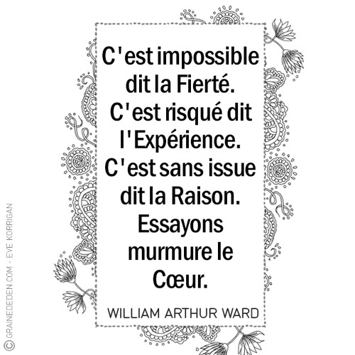 Graine d'Eden Marque-Page citation William Arthur Ward
