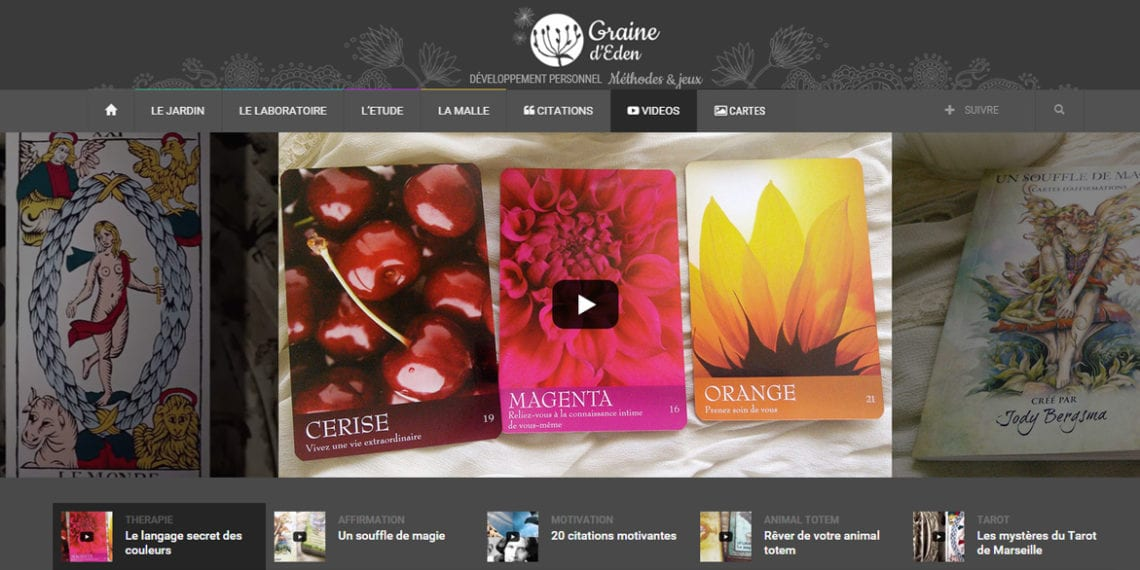 Graine d'Eden - Chaîne vidéos de développement personnel, méthodes et jeux (oracles, cartes et tarot)