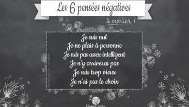 Pensées négatives à éviter !