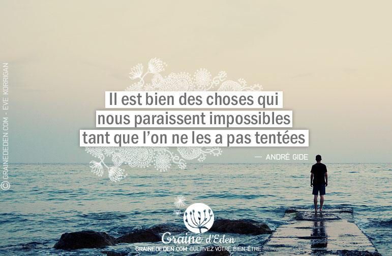 Il est bien des choses qui nous paraissent impossibles tant qu'on ne les a pas tentées