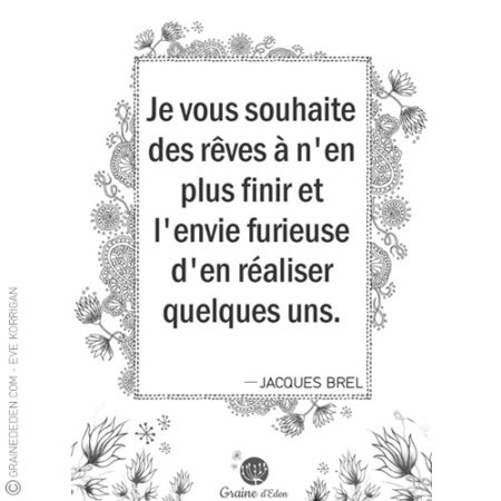Graine d'Eden - citation - Jacques Brel