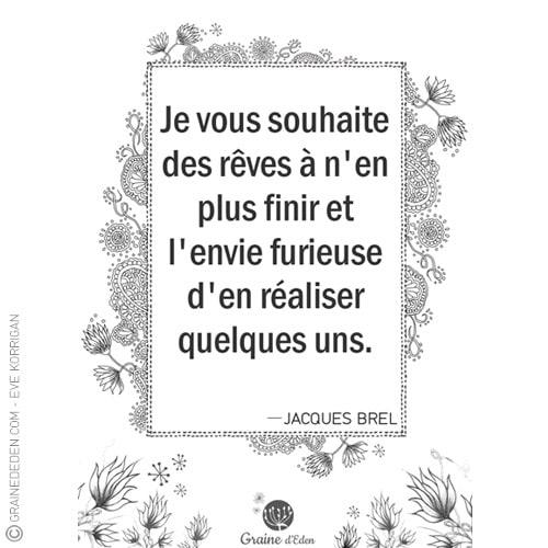 Graine d'Eden - citation - Jacques Brel