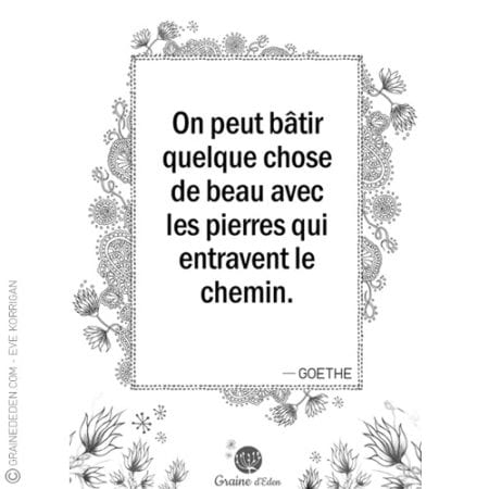 Graine d'Eden - citation - GOETHE