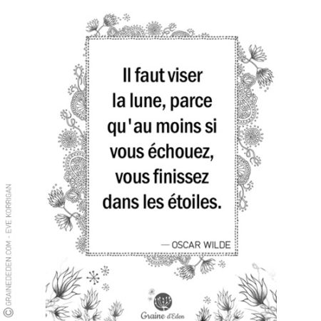 Graine d'Eden - citation - OSCAR WILDE