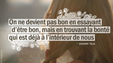 Citation - ECKHART TOLLE - On ne devient pas bon en ...
