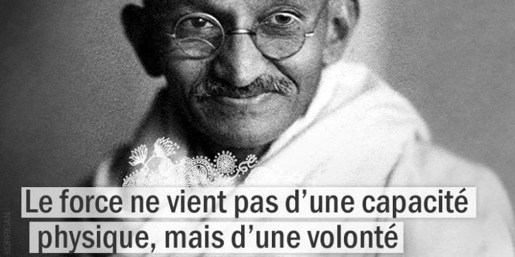 Citation - Gandhi - La force ne vient pas d'une capacité ...