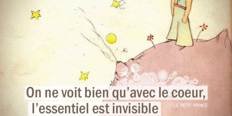 Citation - LE PETIT PRINCE - On ne voit bien qu'avec les cœur, l'essentiel est invisible pour les yeux - Graine d'Eden