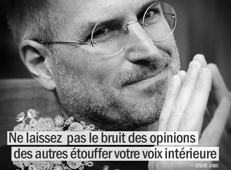 Graine d'Eden citation : Ne laissez pas le bruit des opinions des autres étouffer votre voix intérieure.- STEVE JOBS