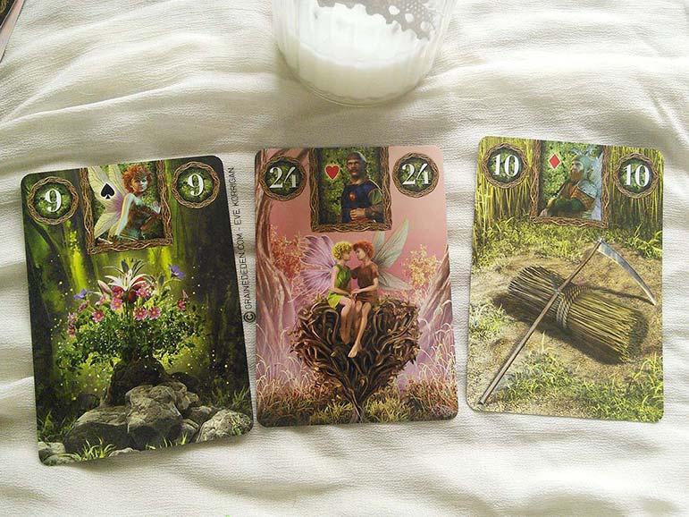 Fairy Lenormand Oracle cards - Graine d'Eden review, présentation. Cartes Oracle, tarot