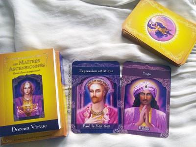 Les cartes Les Maîtres Ascensionnés - Oracle de guidance.