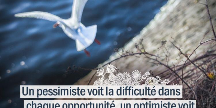 Un pessimiste voit la difficulté dans chaque opportunité, un optimiste voit l'opportunité dans chaque difficulté. Winston Churchill - Graine d'Eden citations