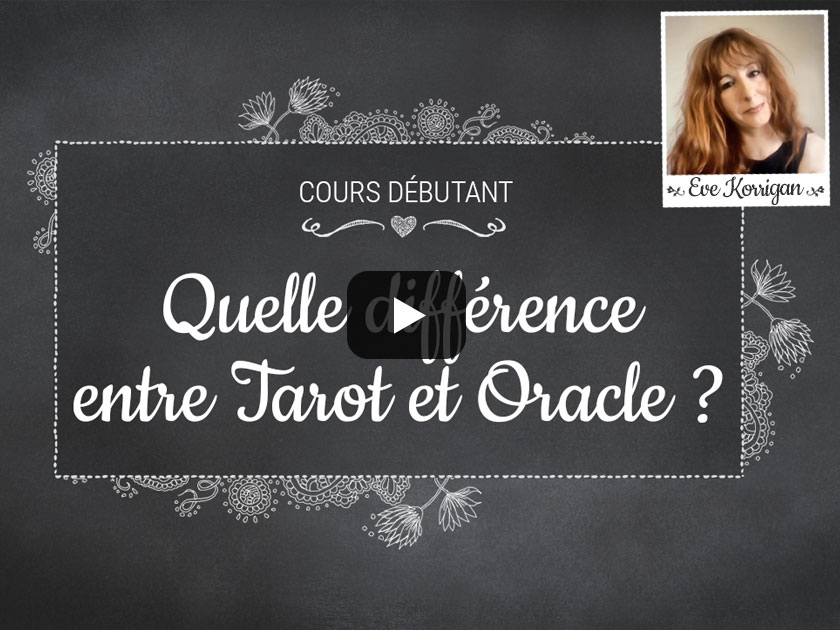 vid o cours d butants quelle diff rence entre tarot et oracle. Black Bedroom Furniture Sets. Home Design Ideas