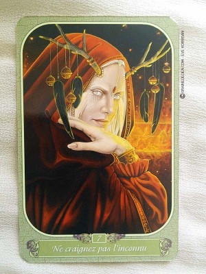 Oracle du Messager de Ravynne Phelan- Graine d'Eden la bibliothèque des cartes Oracle divinatoires, revue, review, présentation de Tarot et Oracle Divinatoires