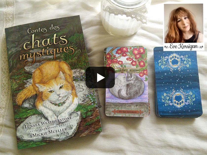 Revue de tarot - Le tarot des chats mystiques review - Graine d'Eden - Eve Korrigan - Présentation, cours de tarots divinatoires