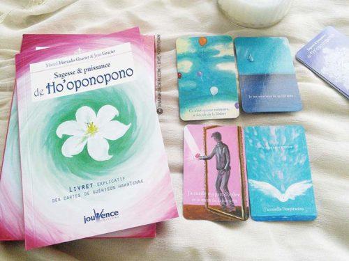 Les cartes Sagesse et puissance de Ho'oponopono - Graine d'Eden la bibliothèque des cartes Oracle - Review et présentation