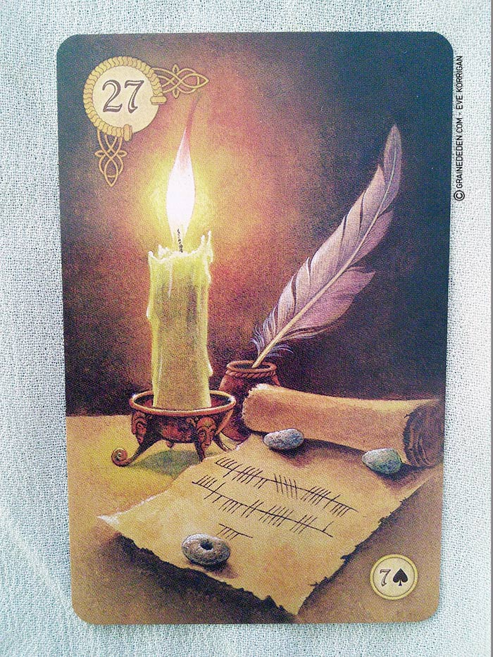 Celtic Lenormand Cartes Oracle présentation - Graine d'Eden review et présentation de cartes Oracle divinatoire et tarot divinatoire - La bibliothèque interactive des oracles divinatoires
