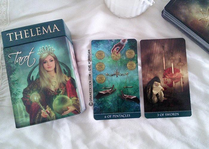 Thelema Tarot deck de Renata Lechner - Présentation et review de Tarot divinatoire - Graine d'Eden