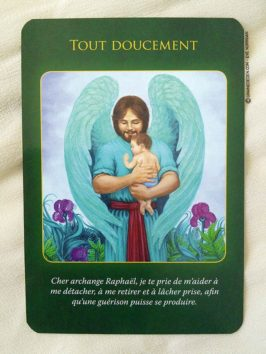 Cartes Oracle L'Archange Raphael de Doreen Virtue - Présentation de jeu, review - Graine d'Eden Bibliothèque de cartes Oracles et Tarots divinatoires