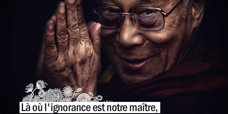 Là où l'ignorance est notre maître, il n'y a aucune possibilité d'une paix véritable. LE DALAI LAMA - Graine d'Eden Citation
