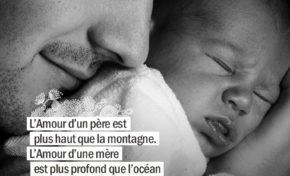 L'Amour d'un père est plus haut que la montagne...