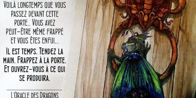 L'Oracle des Dragons Protecteurs - Carte Un Coup à la Porte - Graine d'Eden Développement personnel, spiritualité, tarots et oracles divinatoires, Bibliothèques des Oracles, avis, présentation, review