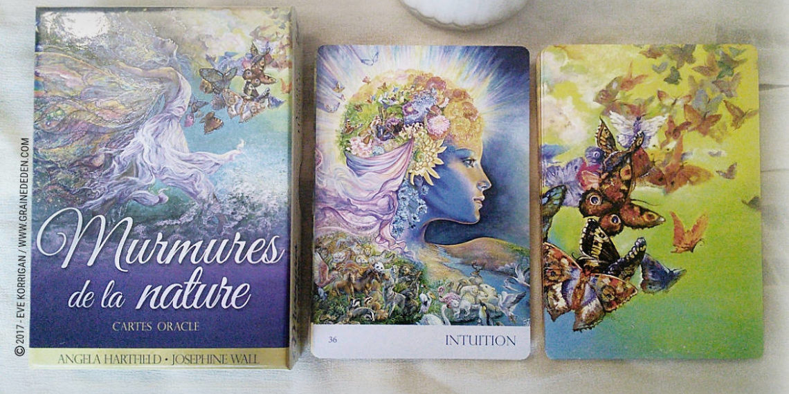 Cartes Oracle Murmures de la Nature de Angela Hartfield et Josephine Wall - Graine d'Eden Développement personnel, spiritualité, tarots et oracles divinatoires, Bibliothèques des Oracles, avis, présentation, review