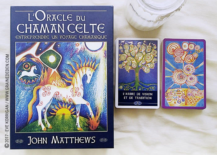 L'Oracle du Chaman Celte de John Matthews - Graine d'Eden Développement personnel, spiritualité, tarots et oracles divinatoires, Bibliothèques des Oracles, avis, présentation, review , revue