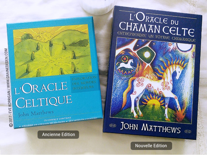 L'Oracle du Chaman Celte et l'Oracle Celtique de John Matthews - Graine d'Eden Développement personnel, spiritualité, tarots et oracles divinatoires, Bibliothèques des Oracles, avis, présentation, review , revue