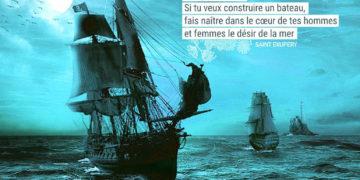 Si tu veux construire un bateau, ne rassemble pas tes hommes et femmes pour leur donner des ordres, pour expliquer chaque détail, pour leur dire où trouver chaque chose... Si tu veux construire un bateau, fais naître dans le cœur de tes hommes et femmes le désir de la mer. ANTOINE DE SAINT EXUPERY - Graine d'Eden Citation
