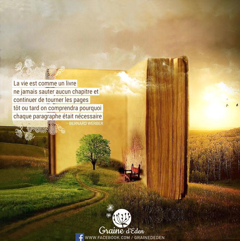 La vie est comme un livre : ne jamais sauter aucun chapitre et continuer de …