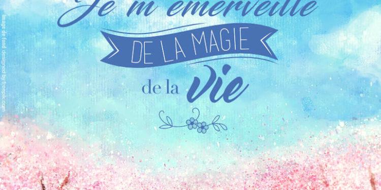 Je m'émerveille de la Magie de la Vie - Pensées positives - Graine d'Eden Développement personnel, spiritualité, tarots et oracles divinatoires, Bibliothèques des Oracles, avis, présentation, review , revue