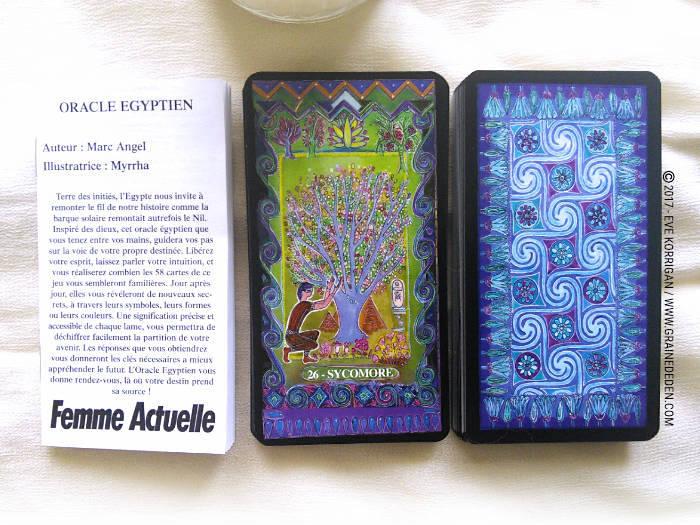 Oracle Egyptien de Marc Angel et Myrrha - Graine d'Eden Développement personnel, spiritualité, tarots et oracles divinatoires, Bibliothèques des Oracles, avis, présentation, review , revue