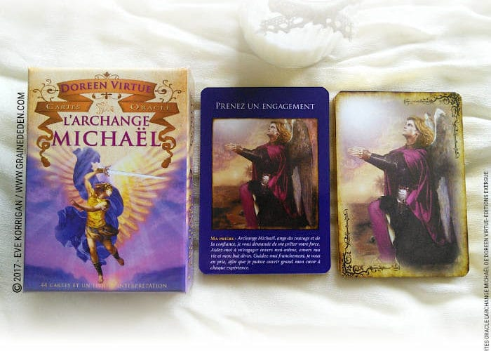 Cartes Oracle L'Archange Michaël de Doreen Virtue - Graine d'Eden Développement personnel, spiritualité, tarots et oracles divinatoires, Bibliothèques des Oracles, avis, présentation, review , revue