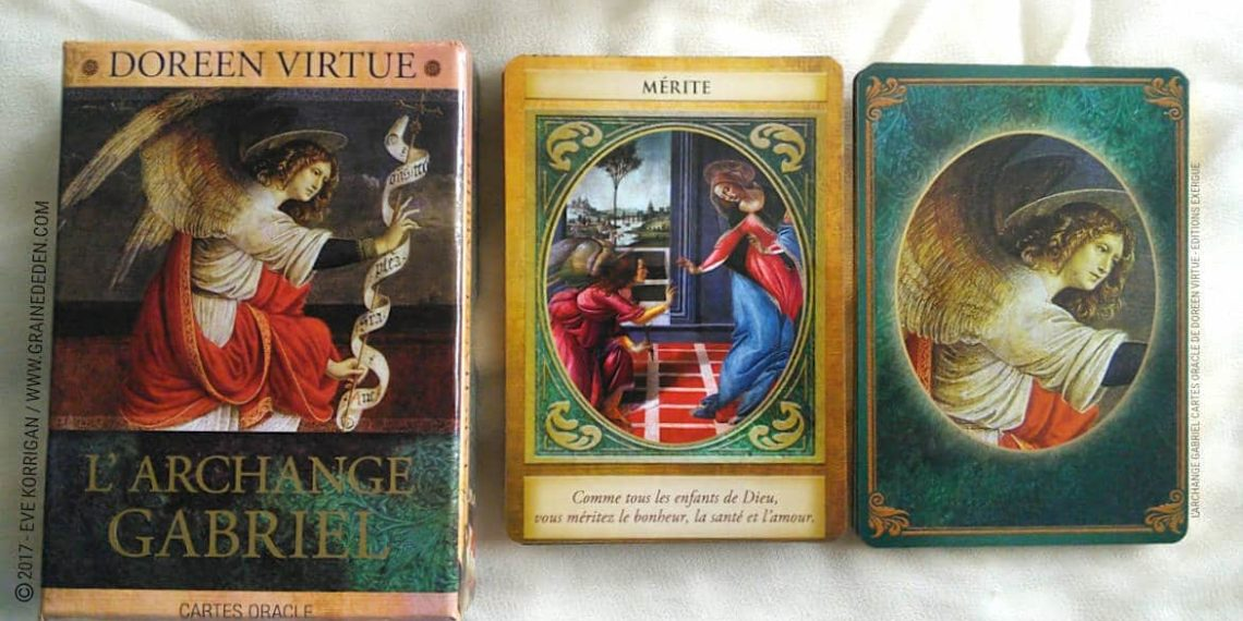 Cartes Oracle L'Archange Gabriel de Doreen Virtue - Graine d'Eden Développement personnel, spiritualité, tarots et oracles divinatoires, Bibliothèques des Oracles, avis, présentation, review , revue