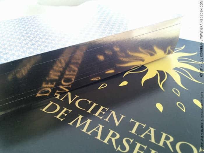 Coffret Luxe Or Ancien Tarot de Marseille Grimaud - Graine d'Eden Développement personnel, spiritualité, tarots et oracles divinatoires, Bibliothèques des Tarots, avis, présentation, review , revue