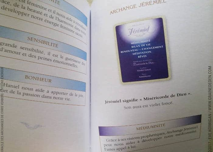 L'Oracle des Archanges de Chris Verbeke - Graine d'Eden Développement personnel, spiritualité, tarots et oracles divinatoires, Bibliothèques des Oracles, avis, présentation, review , revue