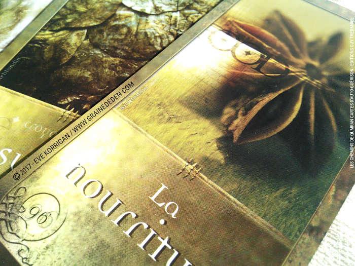 Les chemins de Qumran Cartes d'Auto-guérison et d'introspection de Sarah Lechevalier Sirblondin et Géraldine Bindi - Graine d'Eden Développement personnel, spiritualité, tarots et oracles divinatoires, Bibliothèques des Oracles, avis, présentation, review , revue