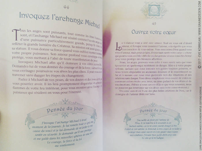 Le Livre Oracles des Anges 365 Conseils de vos Anges de Doreen Virtue - Graine d'Eden Développement personnel, spiritualité, tarots et oracles divinatoires, Livres, Bibliothèques des Livres, avis, présentation, review , revue