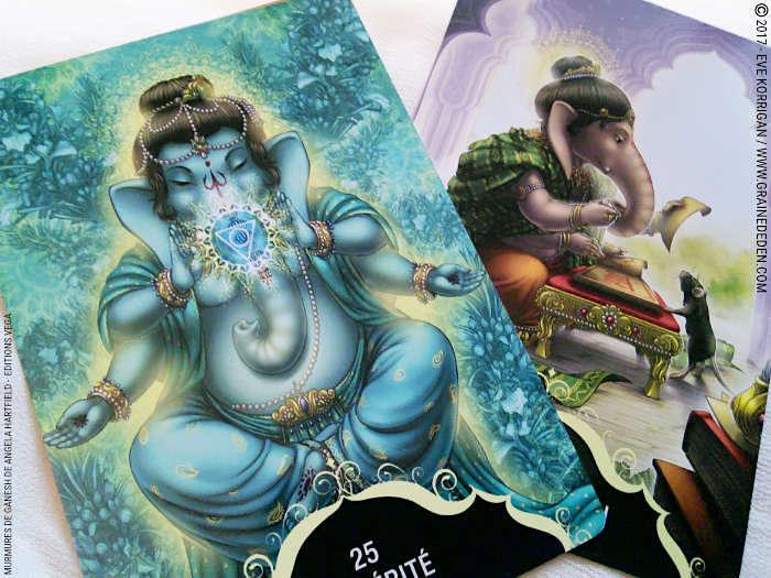 Murmures de Ganesh Cartes Oracle de Angela Hartfield - Graine d'Eden Développement personnel, spiritualité, tarots et oracles divinatoires, Bibliothèques des Oracles, avis, présentation, review , revue