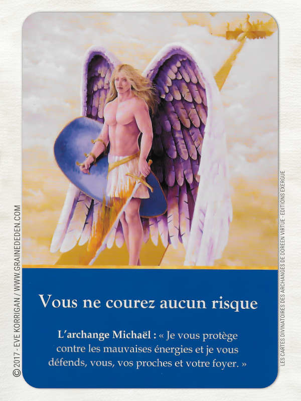 Cartes Divinatoires des Archanges de Doreen Virtue - Graine d'Eden Développement personnel, spiritualité, tarots et oracles divinatoires, Bibliothèques des Oracles, avis, présentation, review , revue