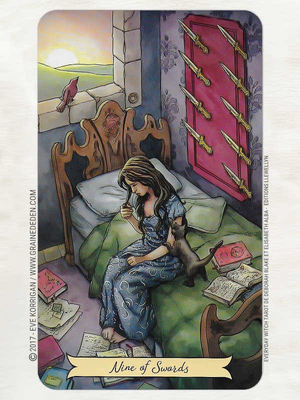 Everyday Witch Tarot de Deborah Blake et Elisabeth Alba - Graine d'Eden Développement personnel, spiritualité, tarots et oracles divinatoires, Bibliothèques des Tarots, avis, présentation, review , revue