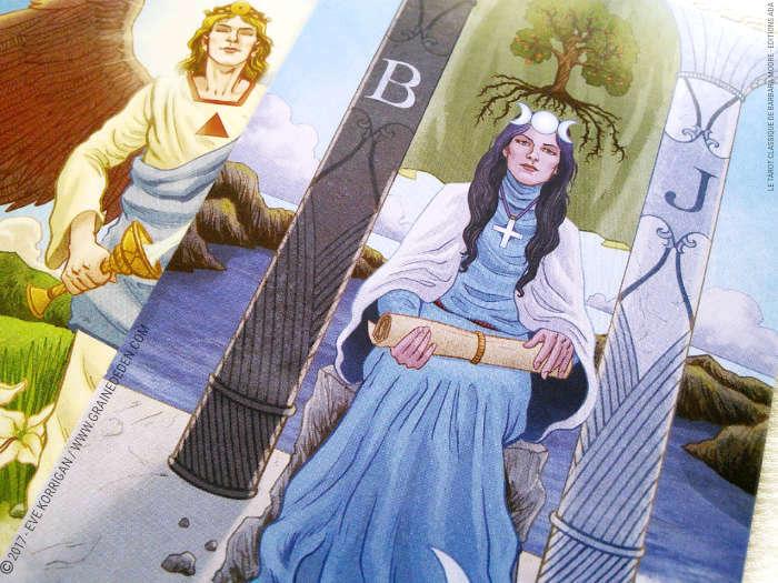 Tarot Classique de Barbara Moore et Eugene Smith - Graine d'Eden Développement personnel, spiritualité, tarots et oracles divinatoires, Bibliothèques des Tarots, avis, présentation, review , revue