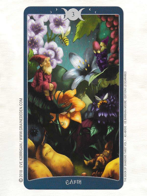 The Book of Shadows Tarot Vol 1 As Above de Barbara Moore - Graine d'Eden Développement personnel, spiritualité, tarots et oracles divinatoires, Bibliothèques des Tarots, avis, présentation, review, revue