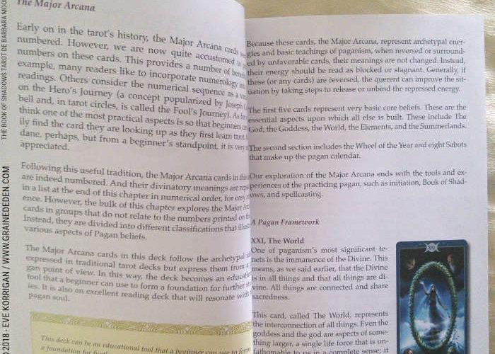 The Book of Shadows Tarot As Above So Below de Barbara Moore Vol 1 et Vol 2 - Graine d'Eden Développement personnel, spiritualité, tarots et oracles divinatoires, Bibliothèques des Tarots, avis, présentation, review, revue