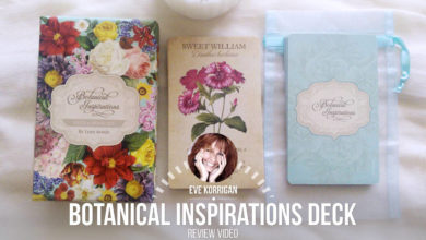 Botanical Inspirations Deck (Présentation Video) Review Video - Graine d'Eden Développement personnel, spiritualité, tarots et oracles divinatoires, Bibliothèques des Oracles, avis, présentation, review tarot oracle , revue tarot oracle
