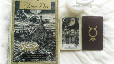 L'Oracle du Dr John Dee de John Matthews et Will Kinghan Review - Graine d'Eden Développement personnel, spiritualité, tarots et oracles divinatoires, Bibliothèques des Oracles, avis, présentation, review tarot oracle , revue tarot oracle