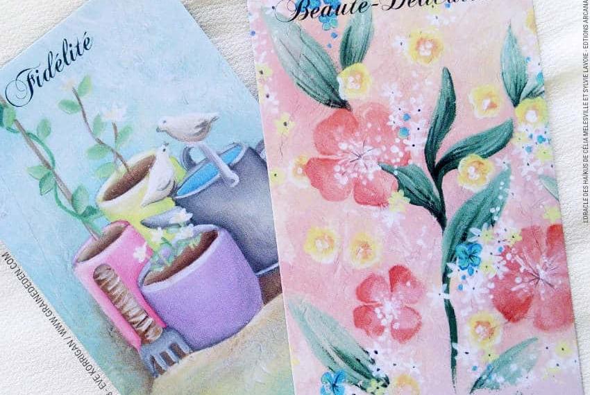 L'Oracle des Haïkus de Célia Melesville et Sylvie Lavoie Review Présentation Avis - Graine d'Eden Développement personnel, spiritualité, tarots et oracles divinatoires, Bibliothèques des Oracles, avis, présentation, review tarot oracle , revue tarot oracle