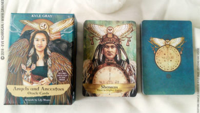 Angels and Ancestors Oracle Cards de Kyle Gray et Lily Moses Review - Graine d'Eden Développement personnel, spiritualité, tarots et oracles divinatoires, Bibliothèques des Oracles, avis, présentation, review tarot oracle , revue tarot oracle